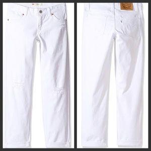 Levi's girls' boyfriend fit distressed jeans